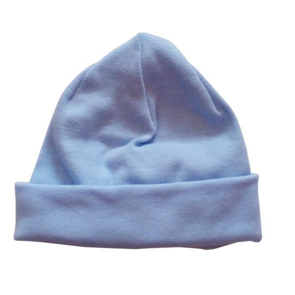 Kék pamut sapka koraszülötteknek